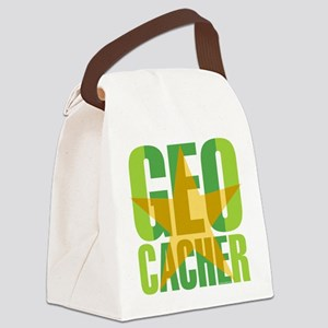 Star Geocacher Green Canvas Lunch Bag