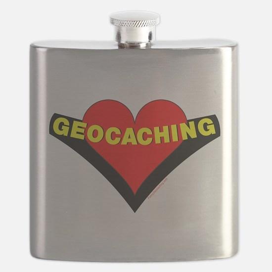 Geocaching Heart Flask