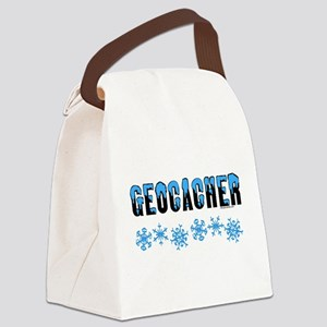 Snow Capped Geocacher Canvas Lunch Bag