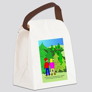 NotGeoXmasTree Canvas Lunch Bag