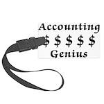 Accounting Genius Large Luggage Tag