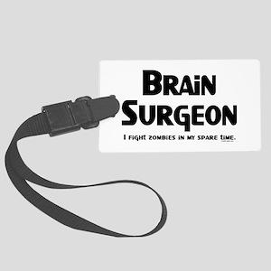 Brain Surgeon Gamer Large Luggage Tag