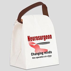 Neurosurgeon Red Canvas Lunch Bag