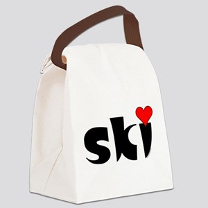 Ski Small Heart Canvas Lunch Bag
