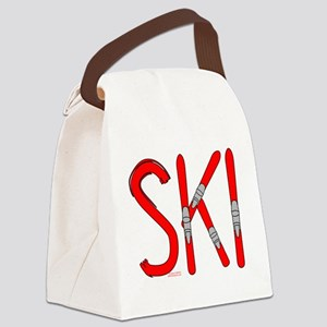Ski Skis Canvas Lunch Bag