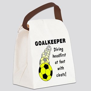 Soccer Goalkeeper Canvas Lunch Bag