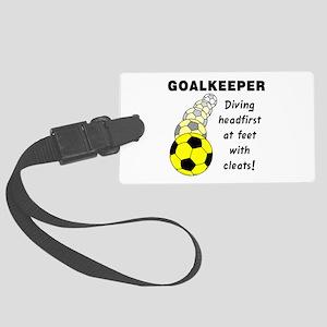 Soccer Goalkeeper Large Luggage Tag
