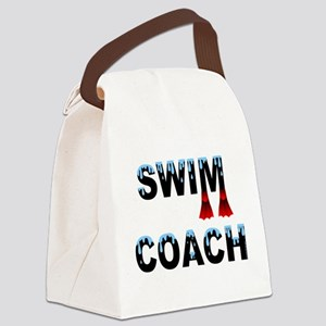 Swim Coach Black Canvas Lunch Bag