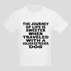 Traveled With Golden Retriever Kids Light T-Shirt