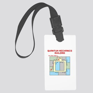 Quantum Mechanics Building Large Luggage Tag