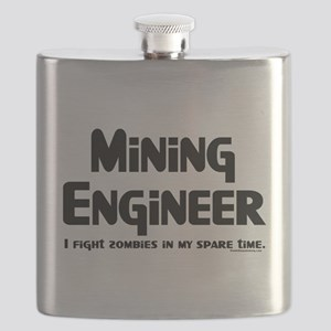 Mining Zombie Fighter Flask