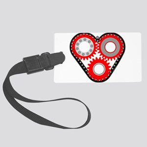 Red Mechanical Heart Large Luggage Tag