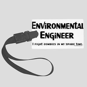Environmental Engineer Zombie Large Luggage Tag