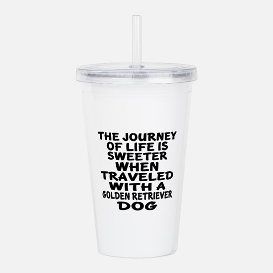 Traveled With Golden R Acrylic Double-wall Tumbler