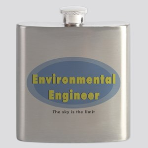 Environmental Blue Oval Flask