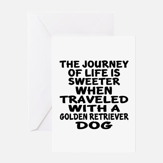 Traveled With Golden Retriever Dog D Greeting Card