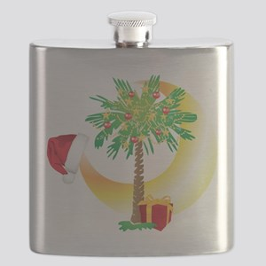 Christmas SC Palmetto Moon Flag Flask