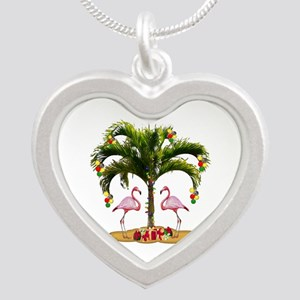 Tropical Holiday Silver Heart Necklace