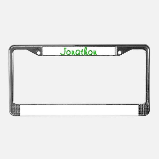 Jonathon Glitter Gel License Plate Frame