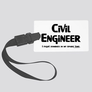 Civil Zombie Fighter Large Luggage Tag