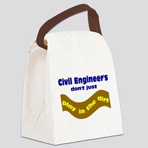 Civil Engineers Play Canvas Lunch Bag