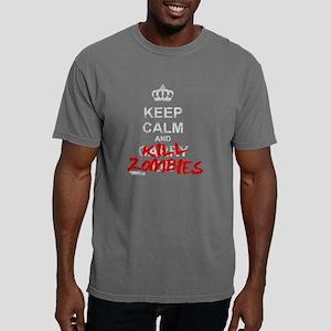 Keep Calm And Kill Zombi Mens Comfort Colors Shirt