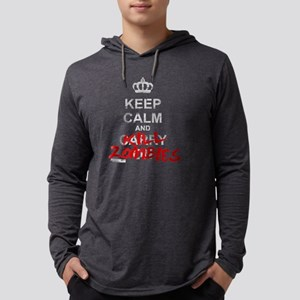 Keep Calm And Kill Zombies Mens Hooded Shirt