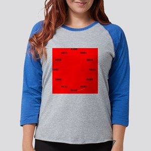 WallClock-red Womens Baseball Tee