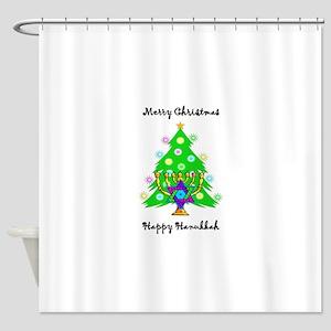 Christmas Hanukkah Interfaith Shower Curtain