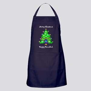 Christmas Hanukkah Interfaith Apron (dark)