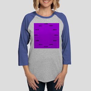 WallClock-purple Womens Baseball Tee