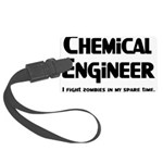 Chemical Engineer Zombie Figh Large Luggage Tag