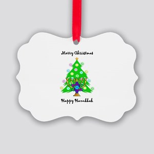 Christmas Hanukkah Interfaith Picture Ornament