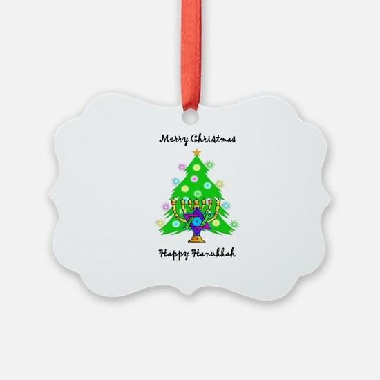 Christmas Hanukkah Interfaith Ornament