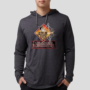 CRAZED BOWHUNTER T ... Mens Hooded Shirt