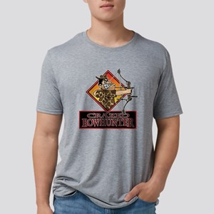 CRAZED BOWHUNTER T ... Mens Tri-blend T-Shirt