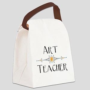 Art Teacher Line Canvas Lunch Bag