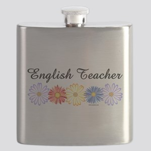 English Teacher Flowers Flask