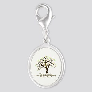 The Art Of Teaching Silver Oval Charm