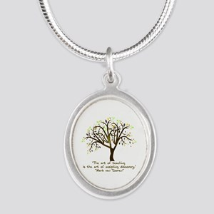 The Art Of Teaching Silver Oval Necklace