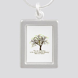 The Art Of Teaching Silver Portrait Necklace
