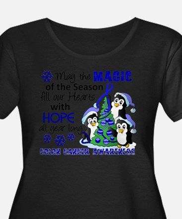 Holiday Penguins Colon Cancer T