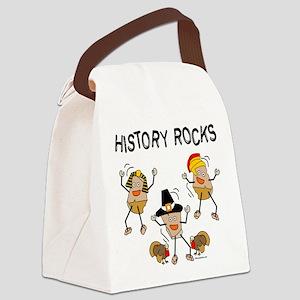 History Rocks Canvas Lunch Bag