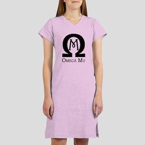 Omega MU - Black - Women's Nightshirt