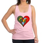 Art Heart Racerback Tank Top