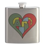 Art Heart Flask