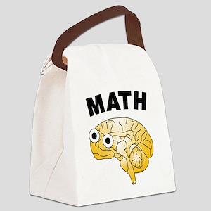 Math Brain Canvas Lunch Bag