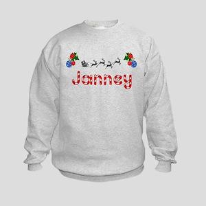Janney, Christmas Kids Sweatshirt