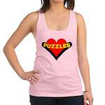Puzzles Heart Racerback Tank Top