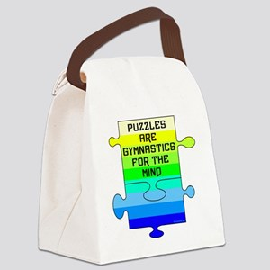 Jigsaw Puzzle Pieces Canvas Lunch Bag